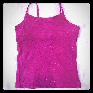 SO Girls Sparkly Pink Bralette Tank Top